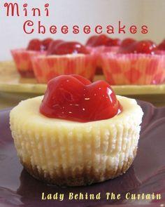 Mini Cheesecakes for Jordan's table
