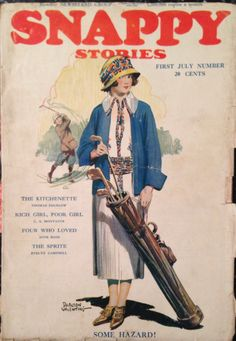 Snappy Stories Magazine July 1923 Lady Golfer Cover