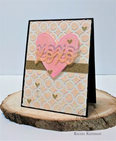 Roses and candy are starting to fill store shelves, which means it's time to prepare for Valentine's Day. For us hat means making cards, cards, and even more cards! This is a heart-filled greeting card that features the subtle yet gorgeous Peach Gelatos®.
