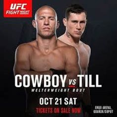 "It's almost time #UFC #FightNight118 between Donald ""Cowboy"" Cerrone @cowboycerrone and Darren Till @darrentill2!  Watch this impressive #welterweight fight from the #ErgoArena in Gdansk Poland and let me know what you think in the comments and don't forget to press like  and follow for all the latest MMA news!  Every fighter  has a story    Dont miss this and all the fights at UFC Fight Night 118 on Saturday 10.21.2017 at 12:00 PM ET  Are you a fighter? If you want to be interviewed by…"
