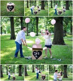 Balloon Box Gender Reveal » Katie Blattel {Blog}