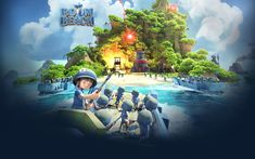Download wallpapers Boom Beach, Supercell, online games, poster, mobile games, Android, iOS