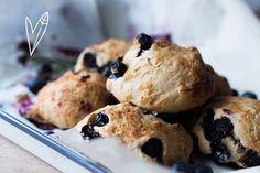 Recept: Vegan Blueberry Scones | The Green Happiness