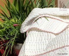Soft Crab, Twin Quilt Size, Handmade Baby Blankets, Toddler Blanket, Kantha Stitch, Kantha Quilt, Soft Blankets, Cotton Quilts, Baby Prints