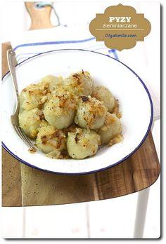 Polish Recipes, Polish Food, Potato Flour, Peeling Potatoes, Dumpling, Gnocchi, Food And Drink, Vegetarian, Favorite Recipes
