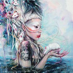 Yolandi The Rat Mistress Canvas Art Print by Tanya Shatseva Yolandi Visser, Canvas Art Prints, Painting Prints, Paintings, Owl, Photoshop For Photographers, Photoshop Actions, Unusual Art, Rats