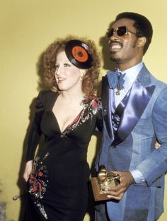 Entertainment | Nostalgic America Bette Midler and Stevie Wonder