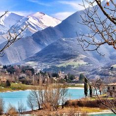 Lake Fiastra, Macerata, Marche. Wonderful hikes & swimming in crystal clear waters, adventure park, boat hire & great food at Il Tribbio restaurant