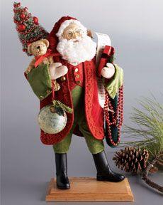 Lynn Haney Green pants and red coat Santa Claus St. Nick