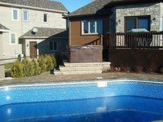 7 best Pavage pourtour de piscine creusée à Québec images on ...