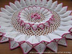 FREE DIAGRAM ~ Beautiful crochet doily FREE PATTERN ~ @  http://momsloveofcrochet.com/MagnoliaBlossomDoily.html   KEEP ~