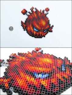 Final Fantasy 6 - Bomb - bead sprite magnet