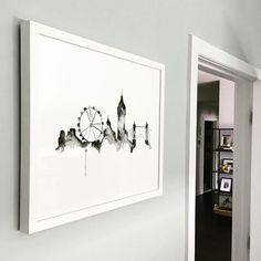 Showcase your favorite city with a Minted wall art print. Courtesy of Girl on the Hudson.