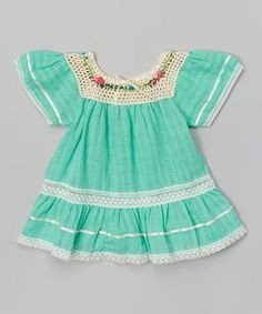 Look what I found on #zulily! Mint Lucy Ibiza Dress - Infant & Toddler by Little Cotton Dress #zulilyfinds
