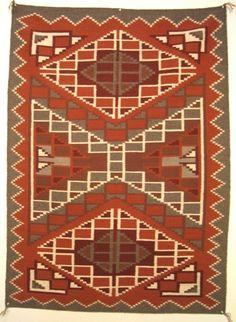 Native American Navajo Burnt Water Vegital Dyed Rug/Weaving, #789