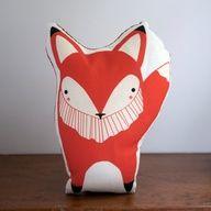 Orange Fox Pillow