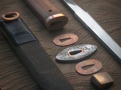 Follow the stages of mounting a hand forged blade using traditional materials and methods.