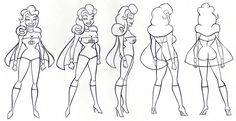 Woman Characters Models Sheets | Character Design | Experimental Game Design