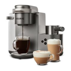 Keurig K-Cafe Special Edition Single Serve K-Cup Pod Coffee, Latte and Cappuccino Maker in Nickel Latte Maker, Cappuccino Maker, Coffee Maker, Bed Bath & Beyond, Fresh Ground Coffee, Lactose Free Milk, Coffee Shot, Coffee Drinks, Reusable Coffee Filter