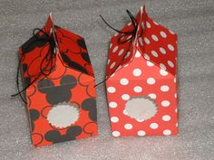 Set of 12 Mickey Mouse or Minnie Mouse Favor by LadyJPaperGarden, $15.00