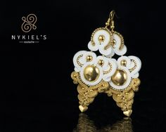 LagrimasDelSol - wedding soutache earrings Nykiel'