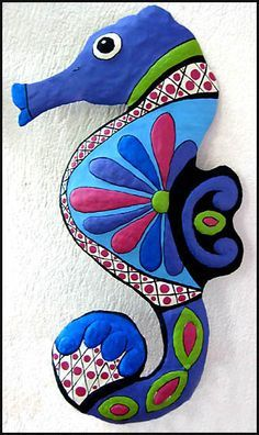 SALE - Discount Tropic Accents Metal Wall Art Hand Painted Metal Wall Decor Nautical Art Seahorse - Metal Art Island Decor Beach Decor Tropical by TropicAccents on Etsy Design Tropical, Tropical Wall Decor, Coastal Wall Art, Tropical Decor, Tropical Interior, Tropical Colors, Tropical Furniture, Coastal Decor, Tropical Garden