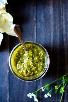 Use it as a dip, or sauce in chilaquiles or your favorite enchilada recipe. A little sweet(ish) and a little spicy, homemade Roasted Tomatillo Salsa Verde is packed with flavor, super simple to whip up and freezer friendly! Authentic Mexican Recipes, Mexican Food Recipes, Vegetarian Recipes, Healthy Recipes, Tomatillo Salsa Verde, Roasted Tomatillo Salsa, Tomitillo Recipes, Best Gluten Free Recipes, Recipies