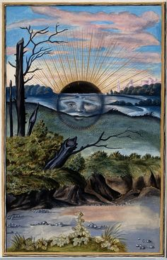 """""""Watercolour Representing The State Of Putrefaction In Alchemy After Salomon Trismosin's """"Splendor Solis"""", XVI Century (Wellcome Images) """""""