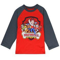 PAW PATROL Boys' Long Sleeved T-Shirt Sizes: 2T-5T Red/Charcoal, http://www.amazon.com/dp/B01LTF75XO/ref=cm_sw_r_pi_awdm_x_3Hrbyb046NR2F