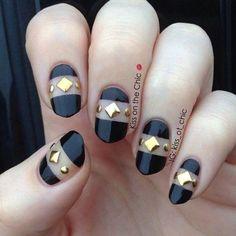 gold stud nails