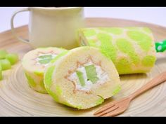 เมลอนเค้กโรล Melon Cake Roll - YouTube