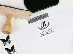 Custom Return Address Stamp by J. Amber Creative