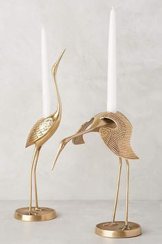 Brass Crane Taper Holder - anthropologie.com