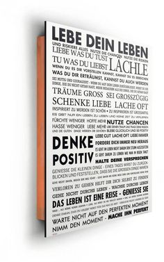Home affaire, Deco Panel »Lebe dein Leben«, 40/50 cm