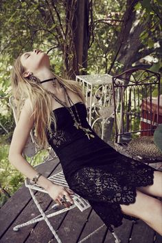 FOR LOVE & LEMONS MIDNIGHT MINI DRESS