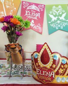 Celebramos la llegada de #ElenaofAvalor, la primera princesa latina de Disney, con una fiesta tematica. Detalles en el blog! #ad @DisneyChannel