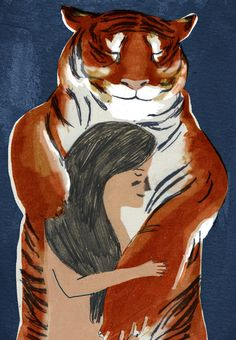 The Tigers Wife - Lizzy Stewart I have noticed that tigers are everywhere right now, in my art too!  h
