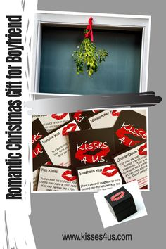 Kisses 4 Us is a unique Christmas Gift for your Boyfriend!  Hang some mistletoe and try all 30 kisses and create some kisses of your own.  Start a new Christmas tradition!