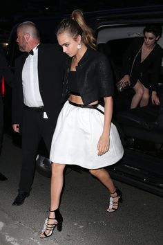 Cara Delevingne at Vanity Fair and Chanel Dinner in Cannes.