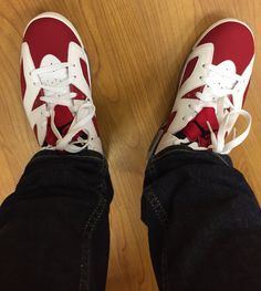 Rocking these today #Nike #AirJordan 6 #Carmines