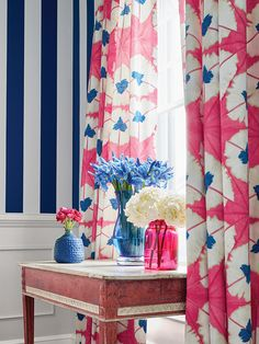 Drapes in Thibaut Sunburst