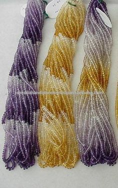 Multi Sapphire Natural Gemstone shaded bead strands, Natural sapphires different color shaded strands