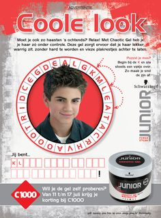 Concept and design: Ads Line Hairstyling products for Nickelodeon Magazine