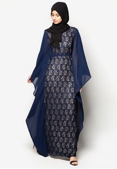 Embellished Lace Kaftan