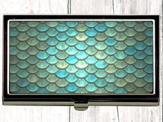 Mermaid Scales Business Card Case / Womens Wallet - the perfect Office Accessory or Birthday Gift  Show your personality with an outstanding business/credit card case which carry your business and credit cards safely !  SPECIAL  Custom Business Card Cases can be made to order - just send us your logo or favorite picture. Interested in a multiple order ? Just convo us because we will give lower prices for larger quantities !  The cases are created using an image transfer dye process....
