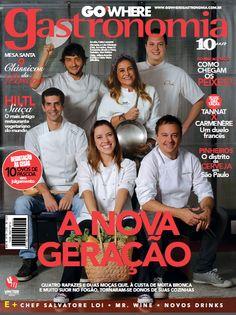 #gastronomiacontemporânea - Ecully Gastronomia na capa da Revista GOWHERE GASTRONOMIA. Restaurante representado pela chef Juliana Amorim.