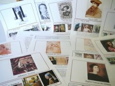 Nadene at Practical Pages offers free resources for artist study, including Famous Artist Wall Chart, Artist biography notebook pages, and a Famous Artist lapbook.