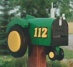 Functional Tractor mailbox by tomscraftcastle on Etsy, $75.00