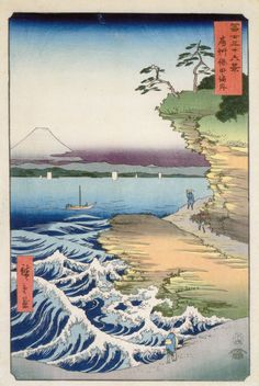 Ando Hiroshige, The Hoda Coast in Awa Province (1858)