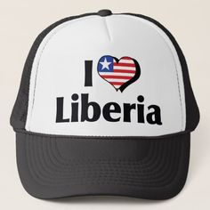 I Love Liberia Flag Trucker Hat
